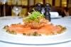 Карпаччо из лосося (ресторан Поло)